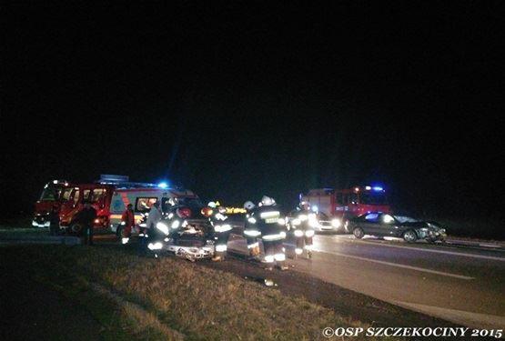 Wypadek samochodowy na ulicy Żeromskiego w Szczekocinach