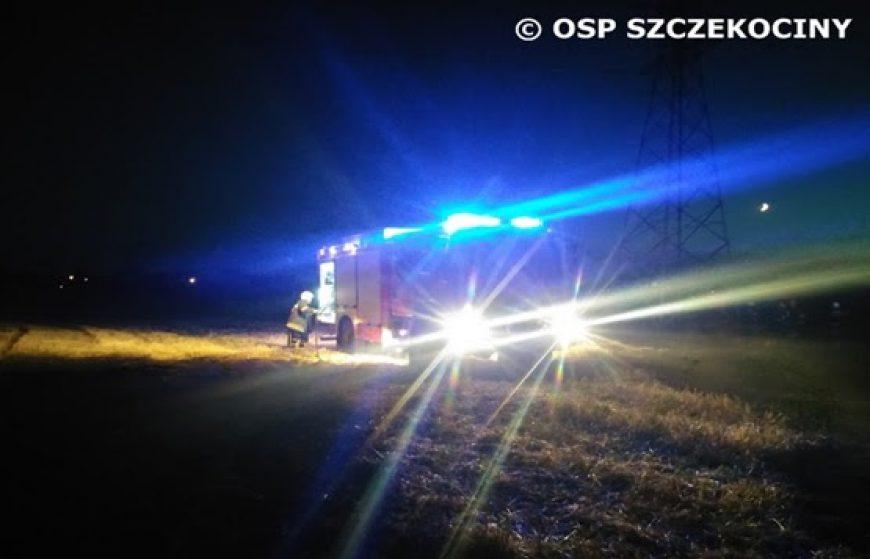 Pożar ścierniska na ulicy Zielonej w Szczekocinach