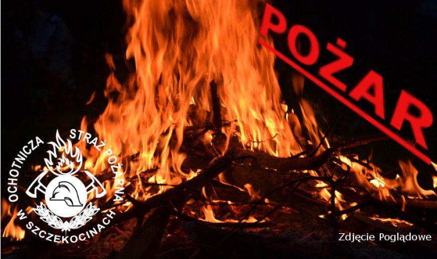 Pożar siana na starej cegielni w Szczekocinach