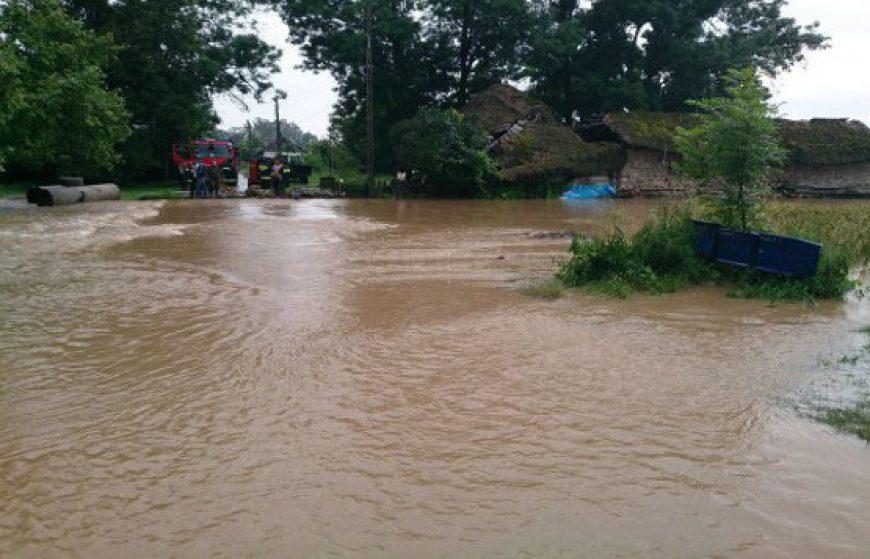 Powódz w gminie Irządze oraz we wsiach Grabiec, Bonowice, Siedliska