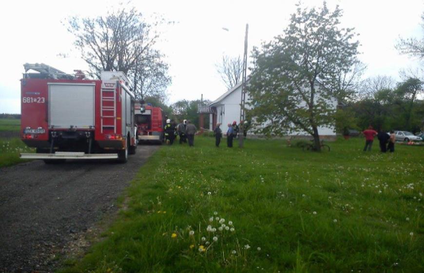 Pożar budynku mieszkalnego we wsi Rokitno