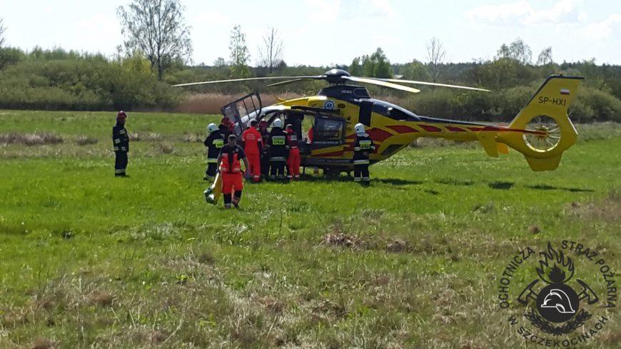 Wypadek samochodowy na DK nr 78 w Szczekocinach