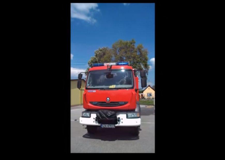 Pokaz sygnalizacji świetlno dźwiękowej samochodu GCBARt Renault Midlum