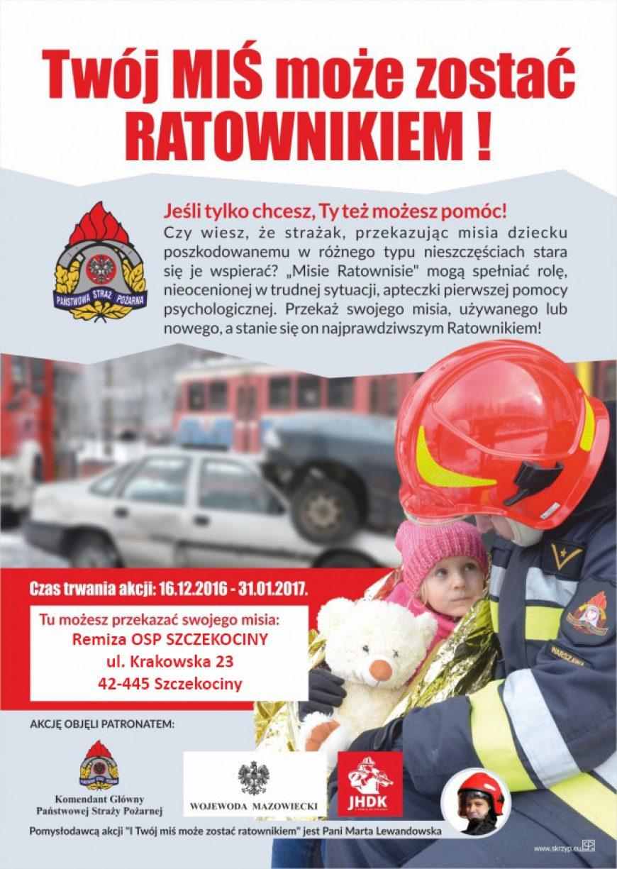 Misie ratownisie – Twój miś może zostać ratownikiem!