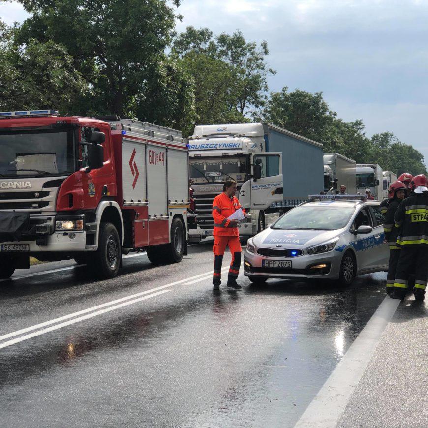 Wypadek 2 samochodów ciężarowych – Pradła